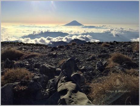Mt. Fuji from Mt. Aino (3,189m) - Minami Alps, Japan