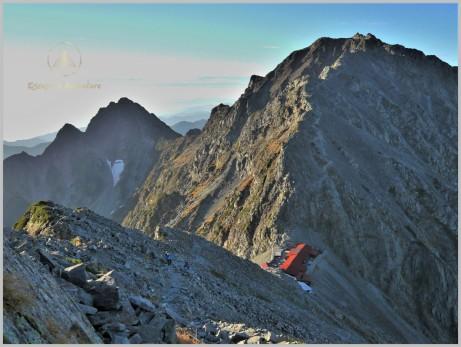 Mt. Oku Hotaka (3,190m) (Right) - Kita Alps, Japan